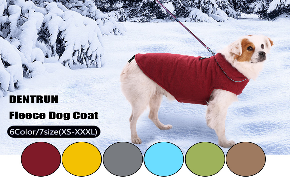 Reflective Dog Winter Coat Sport Vest Jackets Snowsuit Apparel Fleece Sweater