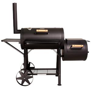 taino yuma 90 kg smoker holz-kohle-grill lokomotive grillen smoken räuchern schwarz