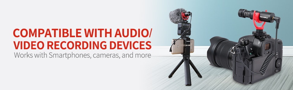 compatible with audio/video recording devices