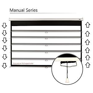 manual adjusting projection projector series pull down up amazonbasics aspect ratio elite screens