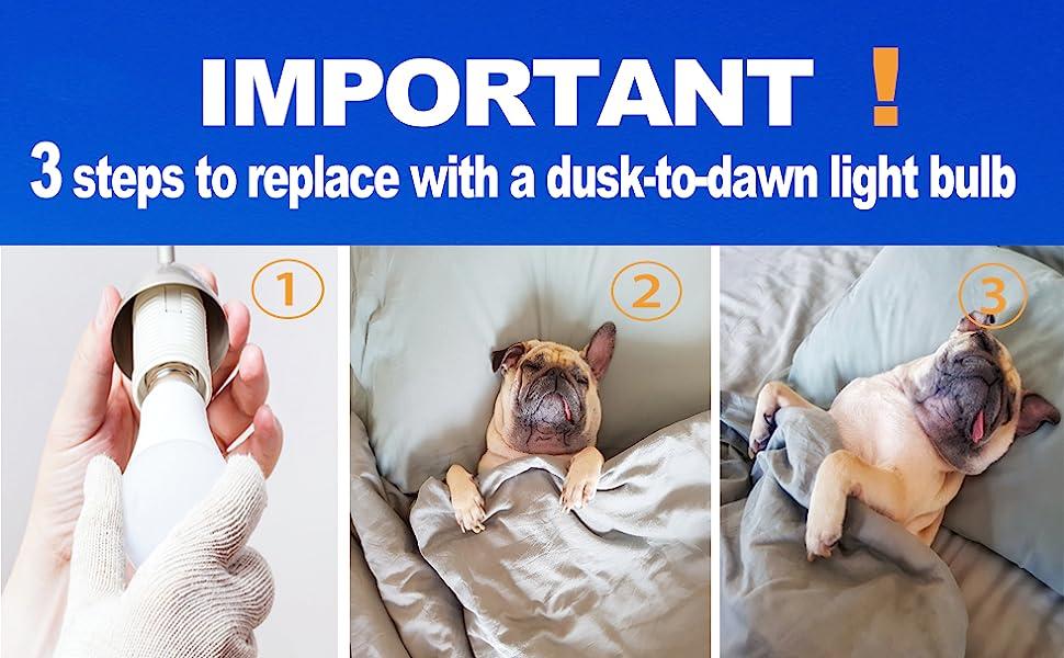 how to instal a dusk to dawn light bulb