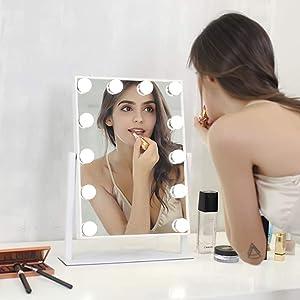 spiegel flinq make up dimbaar licht kantelbaar