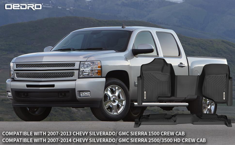 oEdRo Mats Compatible with 07-2013 Silverado/Sierra 1500-07-14 Silverado/Sierra 2500/3500  Crew Cab