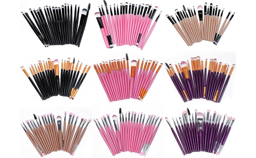 lamilee Eye Makeup Brushes Set Eyeshadow Brush Foundation Powder Eyeliner Eyelash Lip