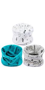 Adorel Bufanda Cuello Alto Algodón para Bebé Paquete de 3