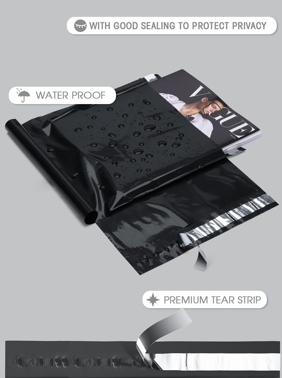 10x13 black mailers