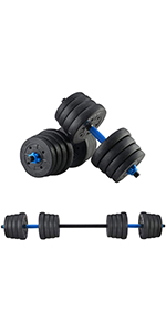 HTNBO Fitness Dumbbells Set, Adjustable Weight 22 lbs to 110 lbs