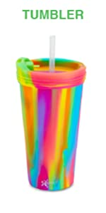 Image of Silipint tumbler with lid and straw.