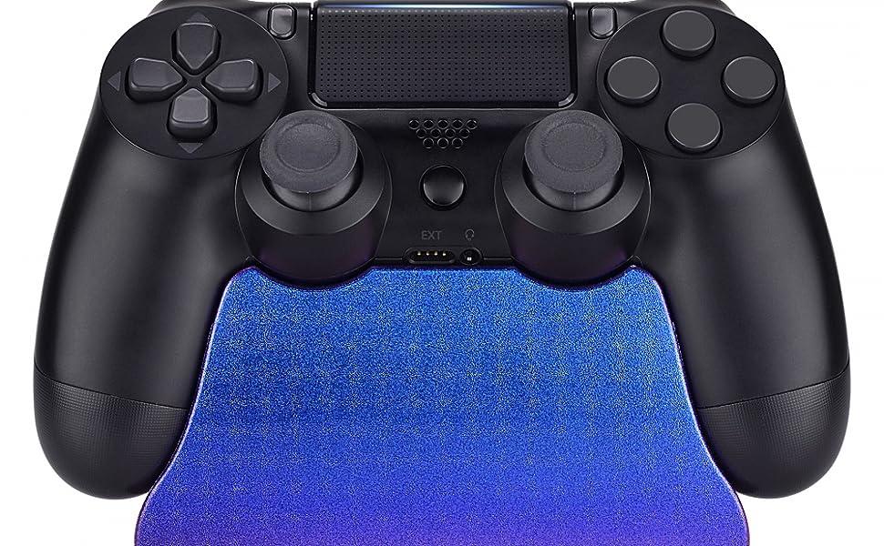 eXtremeRate Soporte de estación para Mando Playstation 4 Accesorios Gamepad Escritorio Soporte Color Brillante Holder para Controlador PS4 Slim PS4 Pro con Almohadilla de Goma(De Azul a Violeta): Amazon.es: Electrónica