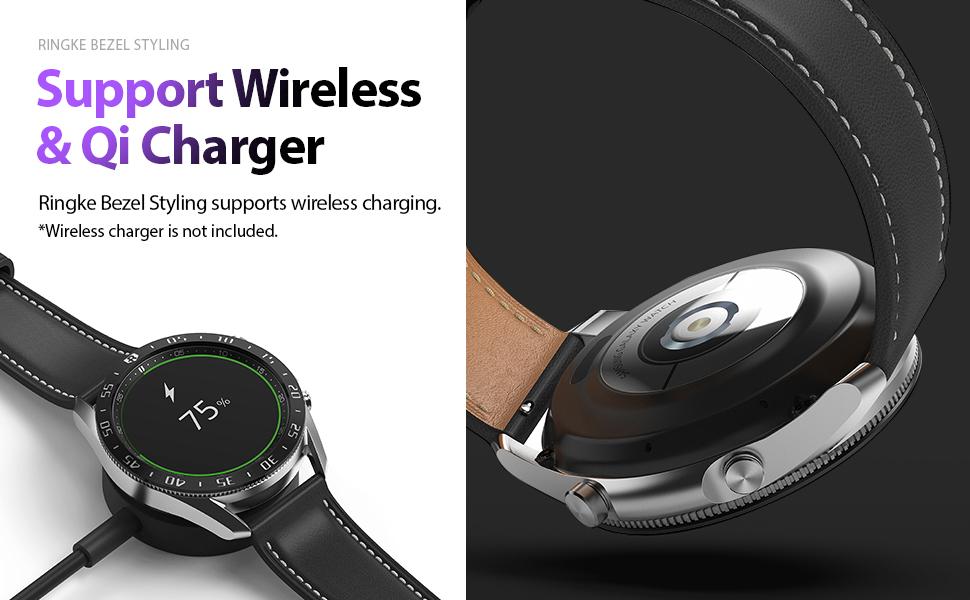 Ringke Bezel Styling for Galaxy Watch 3 45mm Bezel Ring (45-03) (Black)
