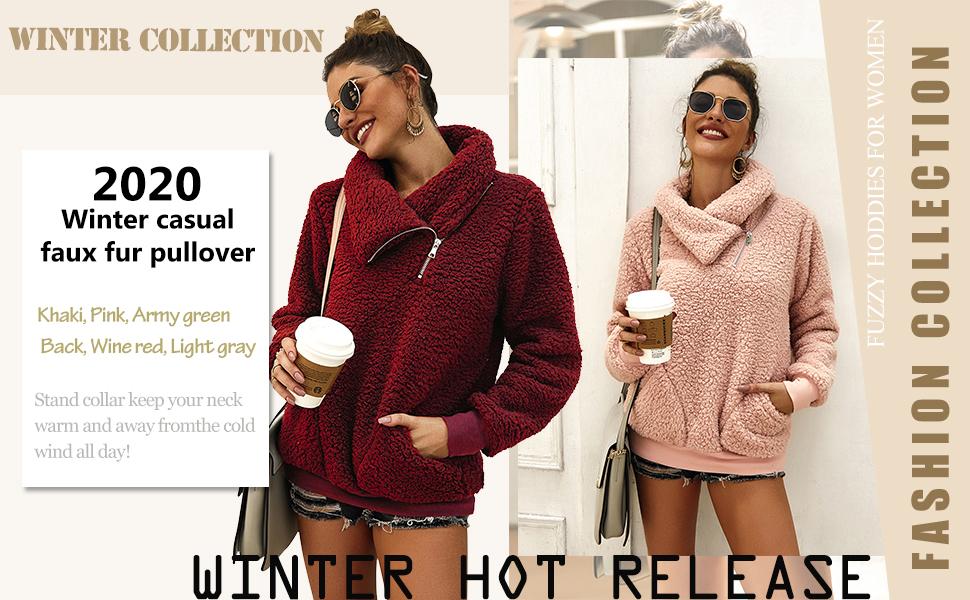 zip up fuzzy sweatshirt for women sharp pullover womens sherpa jacket fleece pullover with pockets