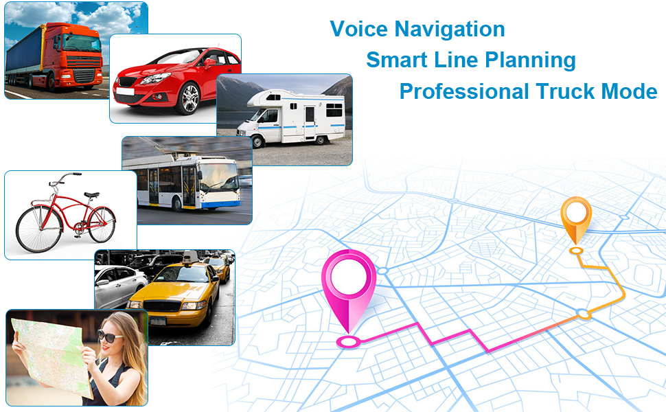 7 inch screen trucker gps navigation system for trucks