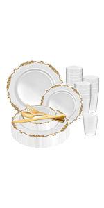 disposable plates dinnerware spoons forks knife table setting cup bowls food wedding tumbler napkins