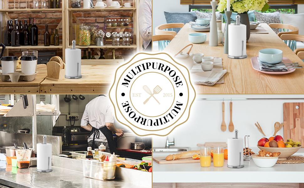 paper towel holder stainless steel zulay kitchen happiness napkin kitchen home indoor outdoor