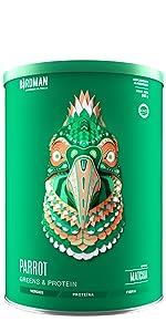 Parrot Greens and Protein, Colación saludable, snack saludable, nutrición práctica