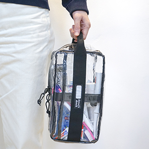 rough enough clear carry pouch makeup bag with handler portable tsa approved toiletry bag for women