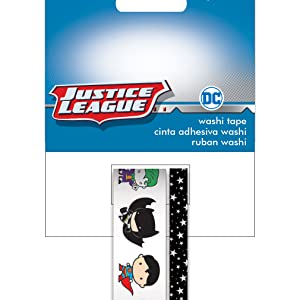 Paper House Productions DC Comics Justice League Chibi Characters Set of 2 Foil Accent Washi Tape