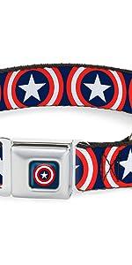 Captain America Shield Collar
