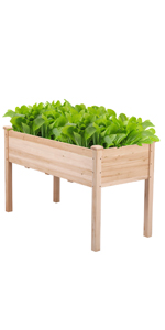 Yaheetech Raised Garden Bed with Legs