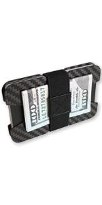 fidelo minimalist wallet for men best slim carbon fiber thin credit card holder money clip