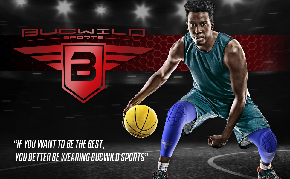 Basketball Wrestling Volleyball Black White Red Blue Youth /& Adult Sizes 1 Pair Bucwild Sports Knee Pads//Padded Compression Pro Knee Sleeves