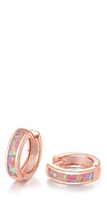 rose gold hoop earrings for women