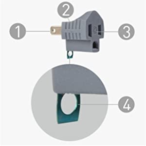 Polarized Grounding Adapter (3 Prong to 2 Prong Adapter)