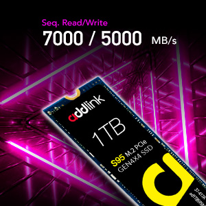 addlink S95 1TB NVMe PCIe Gen3x4 M.2 2280 SSD high performance Internal Solid State Drive