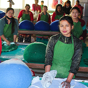 Our cat cave factory in Nepal