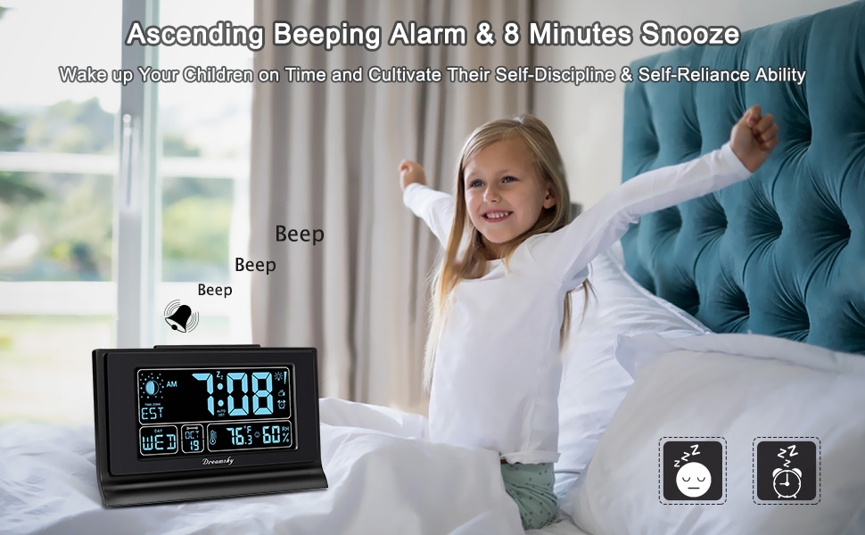 self-setting bedside alarm clocks