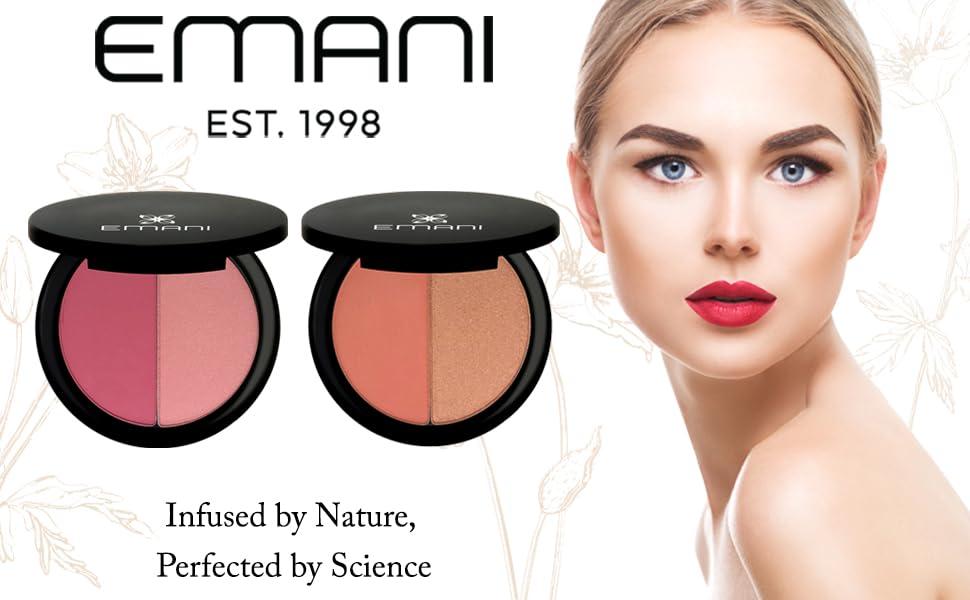 emani vegan cosmetics highlighting blush sensitive skin gluten free two tones