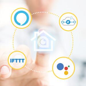 Work with Amazon Alexa, Google Home, IFTTT, Conrad Connect