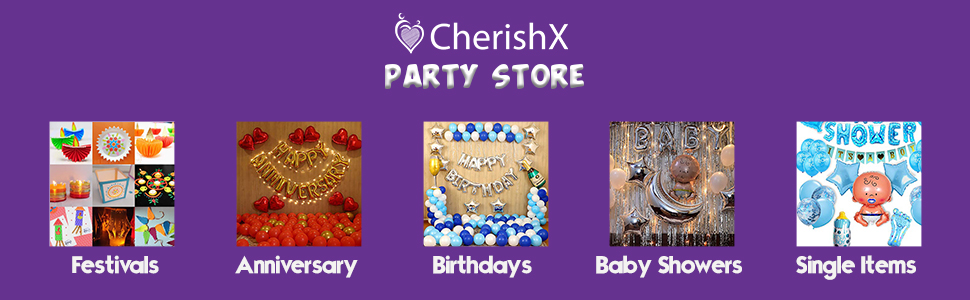 CherishX Party Store Footer