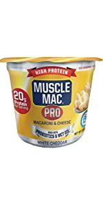 Muscle Mac PRO Cups Microwaveable Mac'n Cheese High Protein Snack Micro Cups meal easy convenient