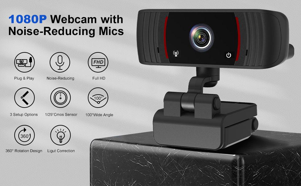 ZEALINNO Laptop HD Web Cam USB Camera