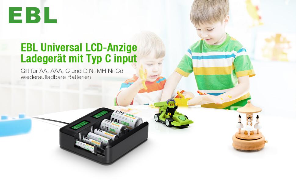 EBL snabb batteriladdare