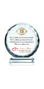 Personalized Crystal 15th Wedding Anniversary
