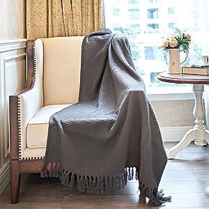 throw blanket gray