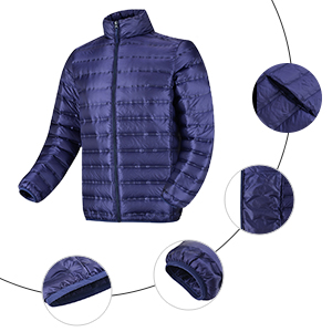 DLC Ultralight Compressible Down Jacket Mens Jacket Winter Lightweight Outdoor Stand Collar Down Jacket Padded Coat Use Travel Hiking Climbing Skiing Winter Sports Duck Down//A//S