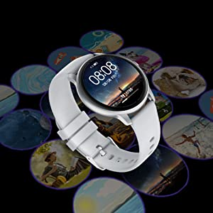 YAMAY Smart Watch 2020 IP68 Waterproof Customized Watch Faces, Watches for Men Women Fitness Tracker