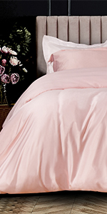 NTBAY SATIN DUVET COVER SET