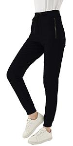 KINGFEN Women's Workout Joggers Active Soft Pants with Pocket Cotton Sweatpants