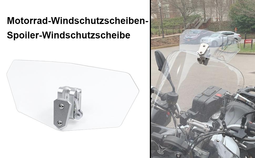 Universal Motorrad Verstellbare Clip On Windschutzscheibe Erweiterung Spoiler Windschutzscheibe Zubehör Auto