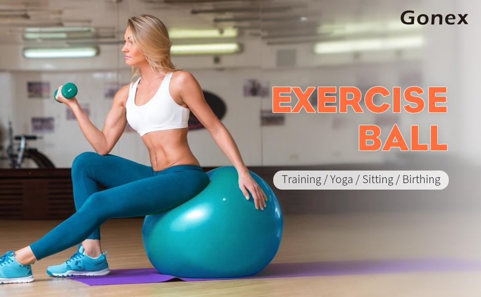 Antid/érapant//Anti-/Éclatement Grossesse Yoga CORE BALANCE Ballon d/'Exercices pour Entra/înement Gymnastique Fitness Diam/ètre Disponible : 55cm 65cm 75cm 85cm avec 1 x Pompe