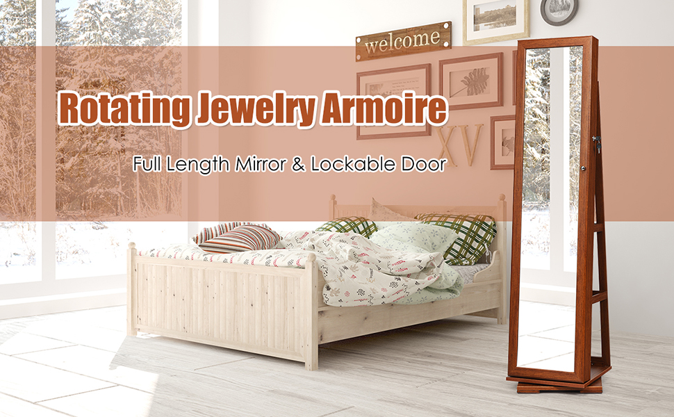 360° Rotating Jewelry Armoire