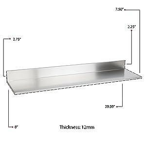 24 inch kitchen shelf small shelf large shelf heavy duty shelf  heavy duty floating shelf for wall