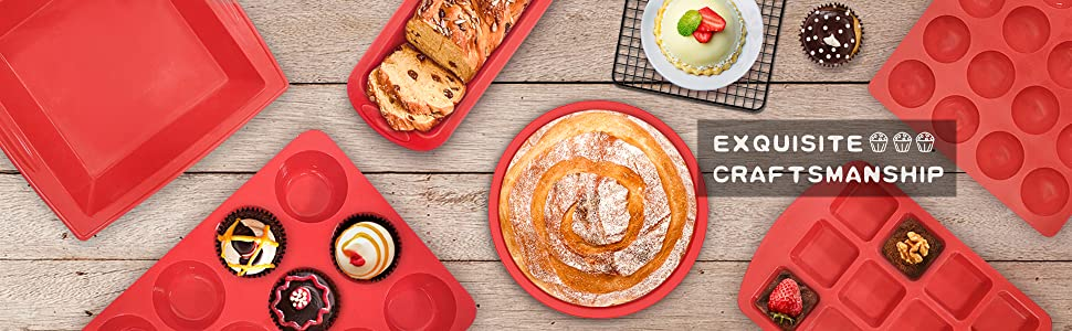 Non stick large silicone muffin cupcake pan for muffin,cupcake,quiche,egg bite,quiche and frittata