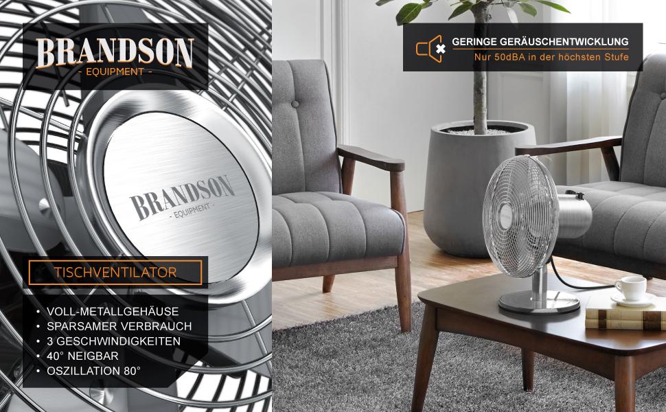 Ventilateur de table Brandson Equipment
