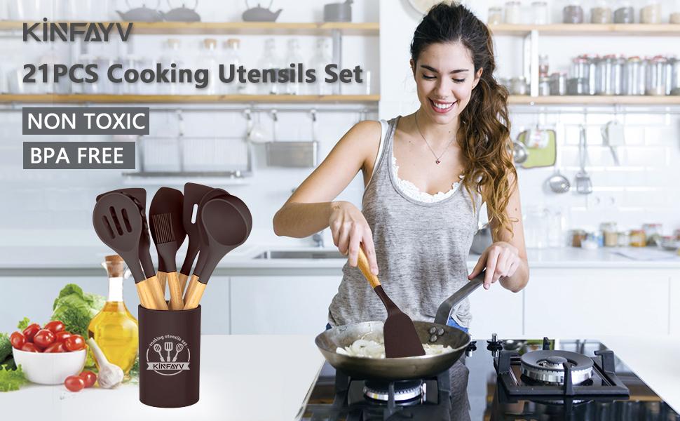 utensils set spatula set silicone utensil set cooking utensils kitchen utensils