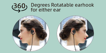 360 Degree Rotatable Earhook for Either Ear